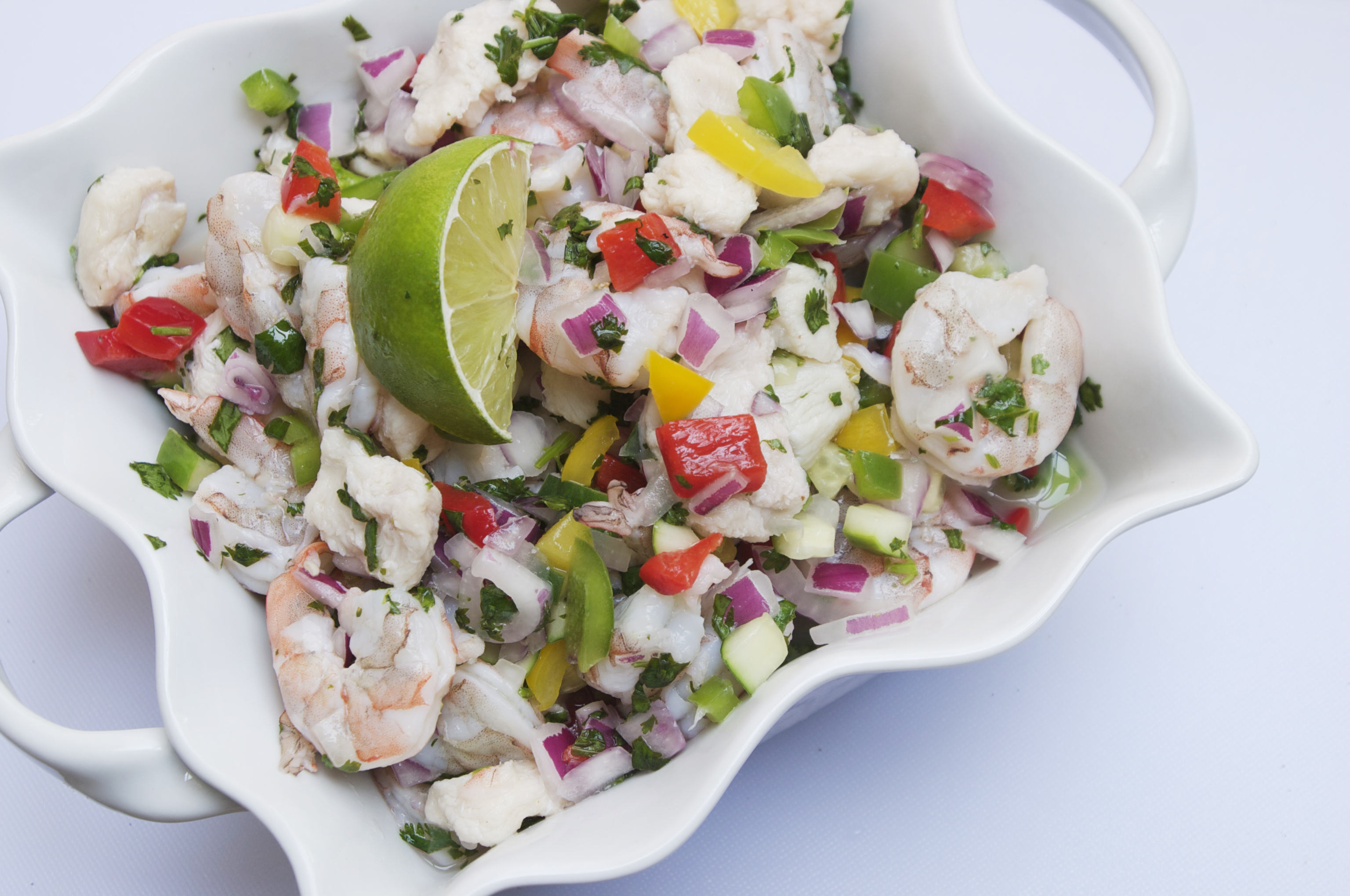 Shrimp and Grouper Fiesta Ceviche | The Pescetarian and ...